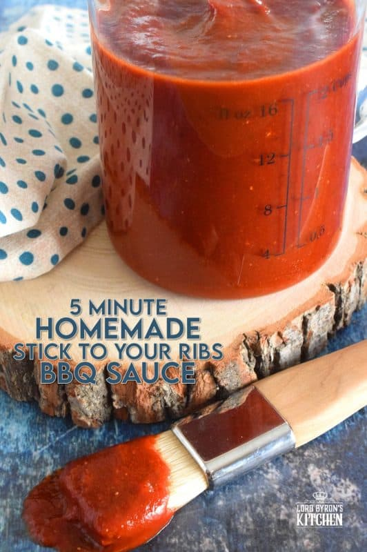 A home cook needs to have several basic recipes on hand that can be whipped up in minutes. Stick to your Ribs BBQ Sauce is a recipe that's quick, easy, delicious, and very inexpensive. With grilling season just around the corner, you might want to keep this sauce on hand at all times! #bbq #bbqsauce #homemade #barbecue #barbeque