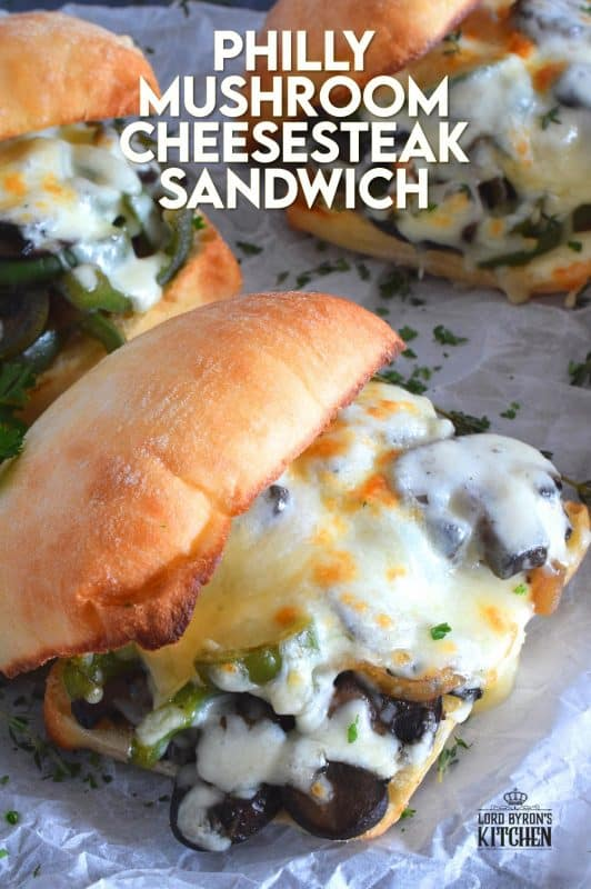 If you prepare mushrooms the right way, they can easily replace meat in almost any recipe. This Philly Mushroom Cheesesteak Sandwich has all the flavour you've come to expect without any beef at all. Vegetarians, rejoice! #vegetarian #meatless #philly #cheesesteak #mushroom