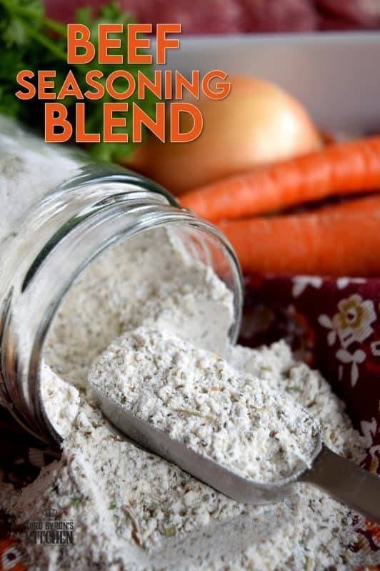 Pre-mixed seasoning blends are perfect for the home cook with a busy lifestyle.  Consider using Beef Seasoning Blend on a roast beef, on steak before pan-searing it, or toss some with diced potatoes and roast until browned.  This blend has everything you need to season meat and vegetables just right every time! #beef #beefseasoning #seasoning #seasoningblends #spiceblend