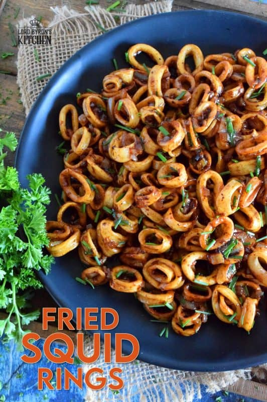 Sometimes, a simple recipe, one that leaves the main ingredient in a near-pure form, is the best! Fried Squid Rings is such a recipe; with the help of a few seasonings and condiments, these are quickly fried so that they are super tender and most certainly super flavourful! #squid #calamari #fried #squidrings #newfoundland