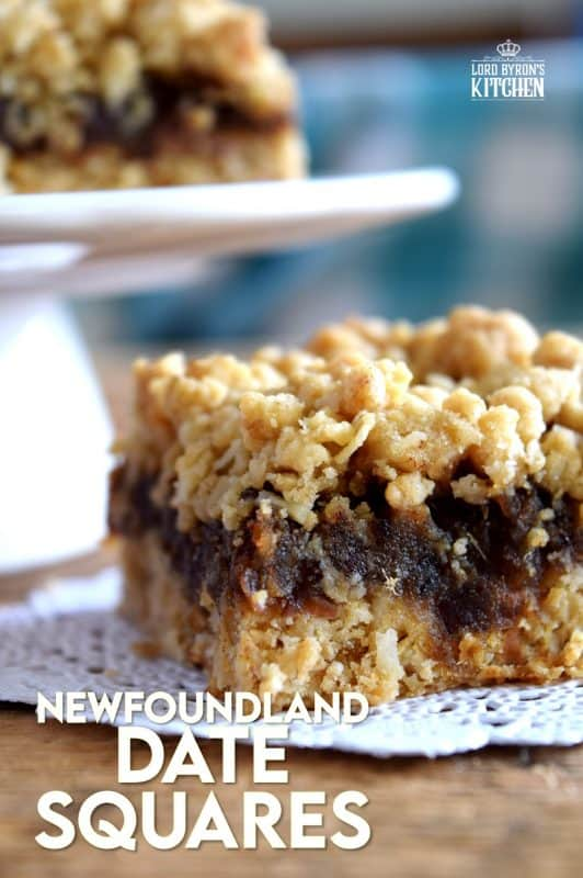 Newfoundland Date Squares are a traditional Newfoundland treat! Slightly sweet, with a crumbly topping, and a soft, chewy center, perfect for an afternoon snack with a cup of hot tea! #newfoundland #newfie #traditional #recipes #date #squares