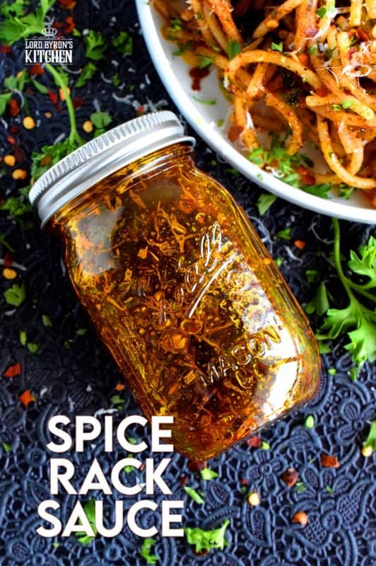 A delicious and delightful all-purpose sauce made with olive oil and the herbs and spices found in everyone's spice rack. A simple sauce with a simple name, Spice Rack Sauce certainly won't break the bank, but it most certainly will rock your taste buds! #sauce #vegetarian #spicerack #spices #herbs