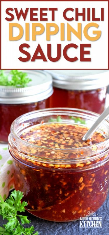 You'll find a thousand ways to use this Thai Sweet Chili Dipping Sauce! It's a little spicy, a little sweet, and a little acidic, which makes a great dip for spring rolls! Spoon some over fried rice or use it as a marinade for chicken or pork. These jars make great gifts too! #Thai #sauce #spicy #sweet #preserve #canned