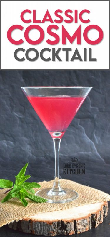There are many variations on this drink, but nothing beats the fruity, citrusy taste of a Classic Cosmo Cocktail. How can such an easy concoction taste so deliciously smooth and refreshing? #cosmo #cosmopolitan #cocktail #pinkispretty #theresalwaystimeforacocktail