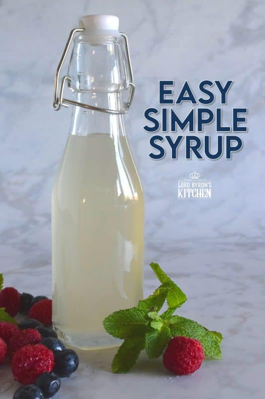A simple syrup, sometimes referred to as a sugar syrup, is in its most basic form, a liquid sugar used to sweeten things like cocktails, fruit juice, and other beverages. But, its use has much further reach than just a cold and refreshing drink! #simplesyrup #sugarsyrup #syrup #sugar