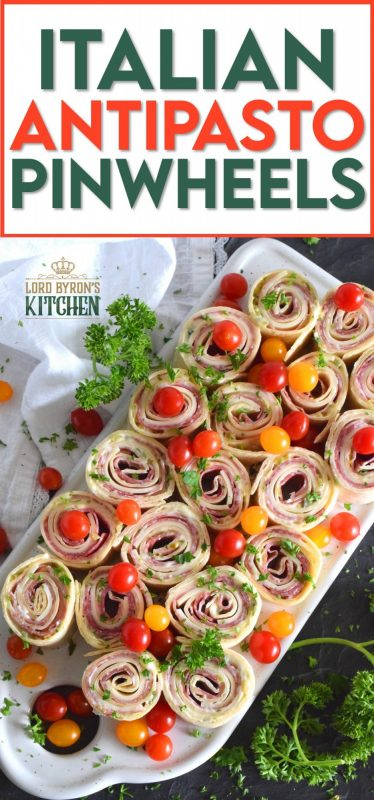 The ease of preparing pinwheel sandwiches is only eclipsed by their deliciousness. Italian Antipasto Pinwheels are filled with cheese and thinly sliced prosciutto, coppa di parma, and salami. With an easy homemade sauce, these are my new favourite appetizer! #pinwheels #sandwiches #italian #appetizers #antipasto