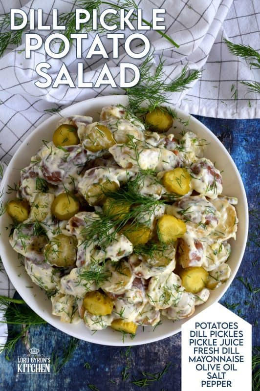 For the serious dill pickle enthusiast, Dill Pickle Potato Salad is a creamy, dill-packed side dish fit for any summertime meal! #dillpickle #dill #pickle #potato #salad #summer