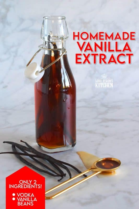 The old expression that homemade is always best is proven right once again. Homemade Vanilla Extract not only smells stronger than store-bought, but it's also more flavourful. All you need are two ingredients and a whole lot of patience! But, it's worth it! #homemade #homemadeisbetter #simpleisbest #vanilla #vanillaextract