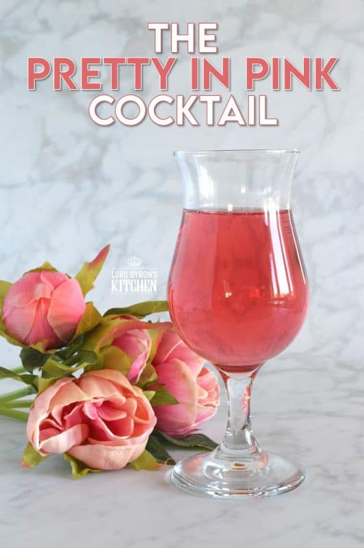 This gorgeous Pretty in Pink Cocktail is prepared with wine, cranberry juice, and soda instead of liqueurs or spirits. With its beautiful shade of pink, consider sharing this cocktail with your valentine! It's also a great option for a bridal shower or a girls night! #prettyinpink #pink #cocktails #summerdrinks #pinkdrinks