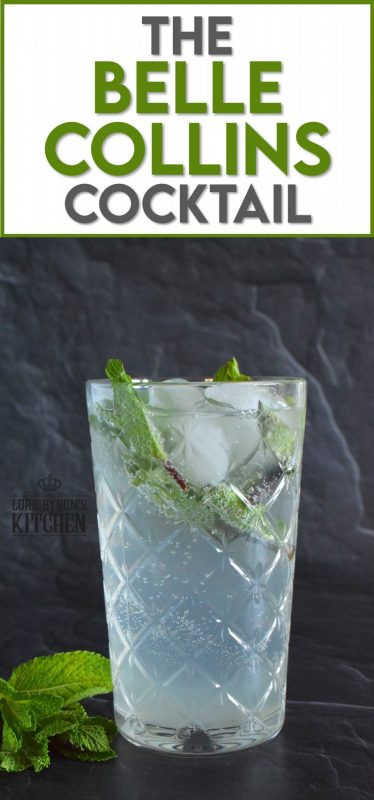 Make room for Tom's sister, Belle! This tall glass of minty-lemon flavoured cocktail is cold and refreshing. Prepared with simple ingredients like fresh mint leaves and lemon juice, gin, sugary syrup, and soda, it's sure to wake up your senses! When it comes to drinks suited for lounging in the backyard on a hot, summer day, nothing beats Tom's sister, Belle! #bellecollins #cocktails #summerdrinks #refreshing #mint