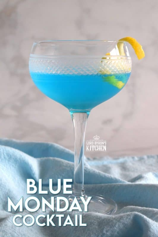 Love it or hate it, Monday comes at us all every single week. After a restful and relaxed weekend, the arrival of Monday can be rather depressing. This Blue Monday Cocktail will get you through it! #bluecocktails #bluecuracao #mondayblues #bluemonday #cocktails