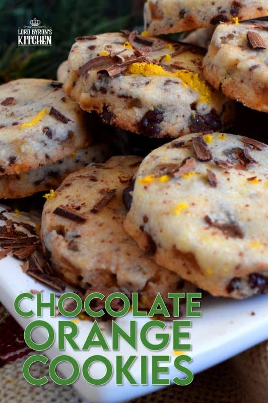 Some flavour combinations work very well together and chocolate and orange is no exception! Chocolate Orange Cookies are light and airy and bursting with bright citrus flavour! #christmas #holiday #baking #chocolate #terrysorange #orange #cookies