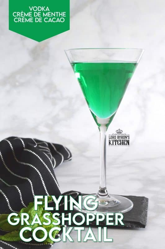 A unique drink, the Flying Grasshopper Cocktail combines just three ingredients to make one of the most loved dessert flavours - mint chocolate! Be careful; this cocktail goes down just a little to easy! #cocktails #cremedementhe #cremedecocoa #mixology #grasshopper #mintchocolate #mint