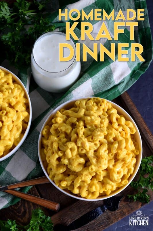 Every Canadian kid, past and present, is familiar with Kraft Dinner. It's what we all call boxed macaroni and cheese! Here's an homemade version that tastes even better than the original! #homemade #KD #kraft #dinner #macandcheese