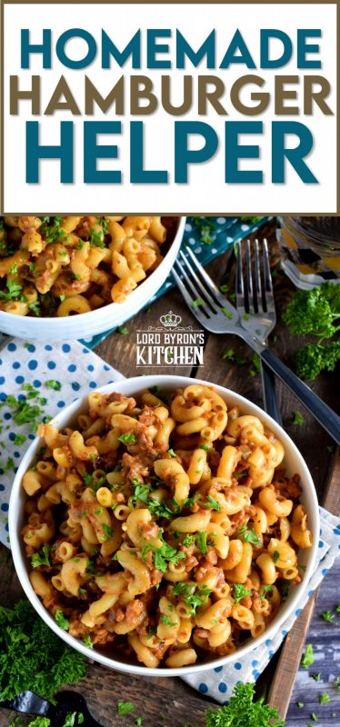 Fast, easy, and delicious, Homemade Hamburger Helper is so easy to make from scratch, you'll never buy the boxed stuff again! Plus, you control the amount of seasonings and sodium! #homemade #hamburger #helper #beef #scratch #pasta