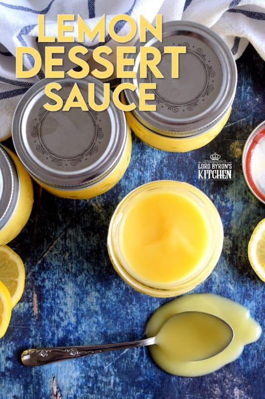 Lemon Dessert Sauce is the epitome of summer dessert topping.  It is fresh and vibrant, and unlike curd, Lemon Dessert Sauce is thinner and pours easily over anything you think pairs well with lemon! #lemon #dessert #sauce #lemonsauce