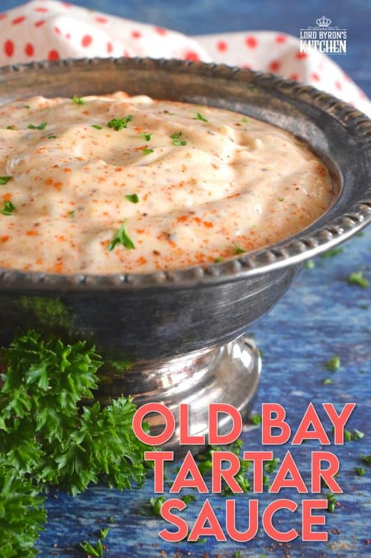 When it comes to seafood, one of the best all-purpose seasonings is Old Bay Seasoning, and it can be found in almost every grocer. Just look for the bright, yellow, rectangular can in the spice section. This tartar sauce recipe is an update on everyone's favourite fried fish condiment! #tartarsauce #seafoodsauce #fishsauce #oldbay #oldbayseasoning