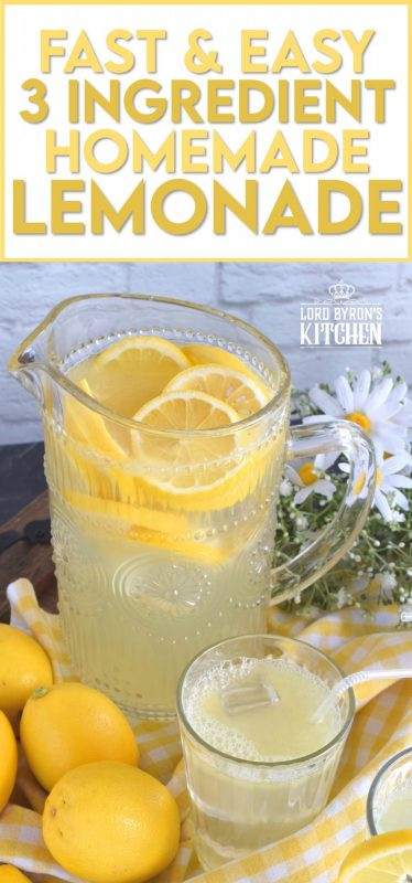 There's nothing like the taste of perfectly sweet and tart homemade lemonade on a hot summer day. This recipe has only three ingredients and will take you back to the summers of your childhood. #homemade #lemon #juice #lemonade #stand #summer #drink