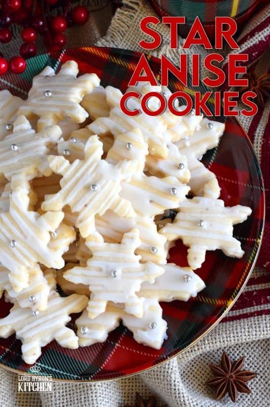Star Anise Cookies are rustic and simple cookies that are filled with the familiar licorice flavour we all know and love. Not super sweet, these cookies pair very well with the icing drizzle, and uses only common pantry ingredients! #christmas #holiday #baking #cookies #star #anise #cookiecutter