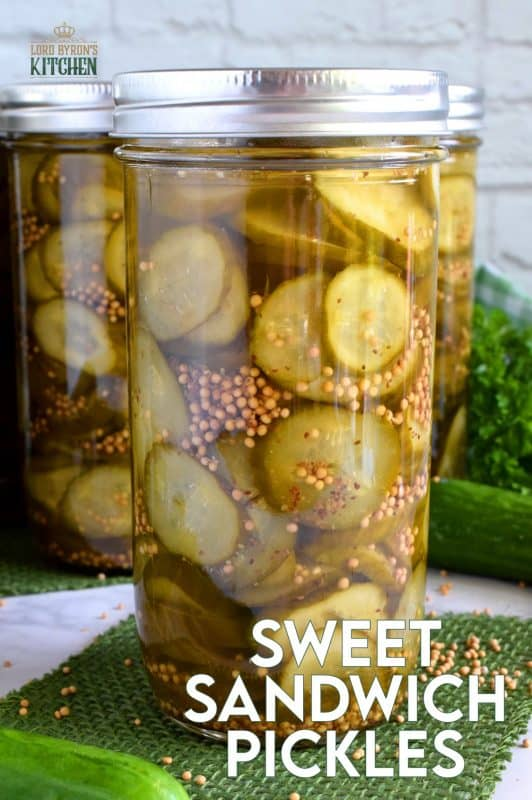 Every sandwich needs a pickle! Preserve your own sweet pickles using a water bath canning method - easy and inexpensive too! #pickles #canned #sweet #preserves
