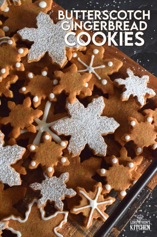 Everyone loves gingerbread. And, everyone loves butterscotch. So, why not combine the two flavours into these beautifully delicious Butterscotch Gingerbread Cookies!? Break out your favourite cookie cutters; it's time to bake! #gingerbread #butterscotch #christmas #holiday #baking #cookies