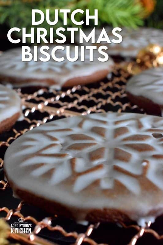 Dutch Christmas Biscuits, more commonly known as Speculaas, are stamped cookies with a very thin sugary glaze. These particular cookies have lots of deep spice flavour and the smell is just heaven! Speculaas surely look impressive, but you won't believe how easy they are to make! #Dutch #Christmas #baking #holiday #cookies #spiced #speculaas