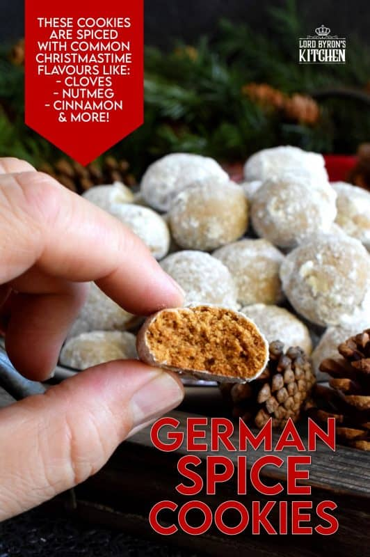 Bursting with every Christmas flavour you can possibly crave, German Spice Cookies are not overly sweet, but quite aromatic and warm. These are the type of cookies that make you feel cozy from the inside out! The combination of spices feel warm in the mouth and almost demands to be enjoyed with a hot coffee! #German #spice #cookies #christmas #holiday #baking #molasses