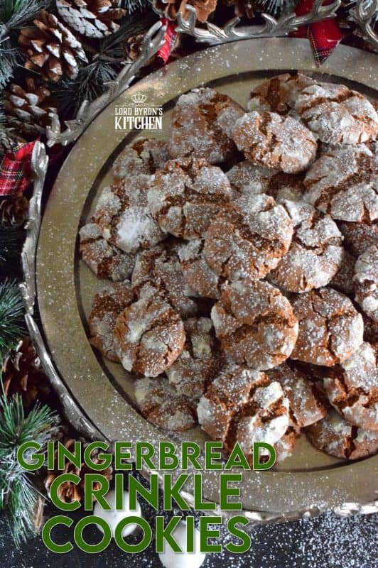 Everyone loves gingerbread, but not everyone has the patience or skill needed to roll out dough and decorate little men. Gingerbread Crinkle Cookies has all of that classic flavour in a soft, pillow-y cookie. And, no decorating skills or rolling pins needed! #gingerbread #crinkle #cookies #christmas #holiday #baking