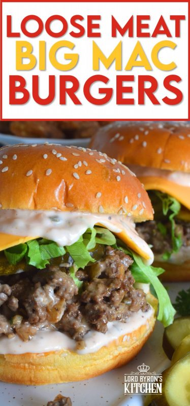 Sometimes the best recipes are those that combine two or more unique ideas. Loose Meat Big Mac Burgers taste just like a Big Mac, are made like a Loose Meat Sandwich, and look like a Sloppy Joe! Get your mouth around this burger and taste just how good fresh and homemade can be! #copycatrecipes #bigmac #sloppyjoe #loosemeat #burgers #sandwich #ground beef #mcdonalds