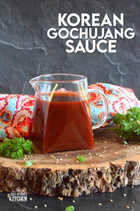 Gochujang has taken the world by storm as of late, and we love it! Korean Gochujang Sauce is sweet and spicy, but it's also tangy and savoury. This is an all-purpose sauce, meaning that it's great on just about anything you can think of! #korean #gochujang #sauce #koreansauce #gochujangsauce #spicy #sweetandsticky