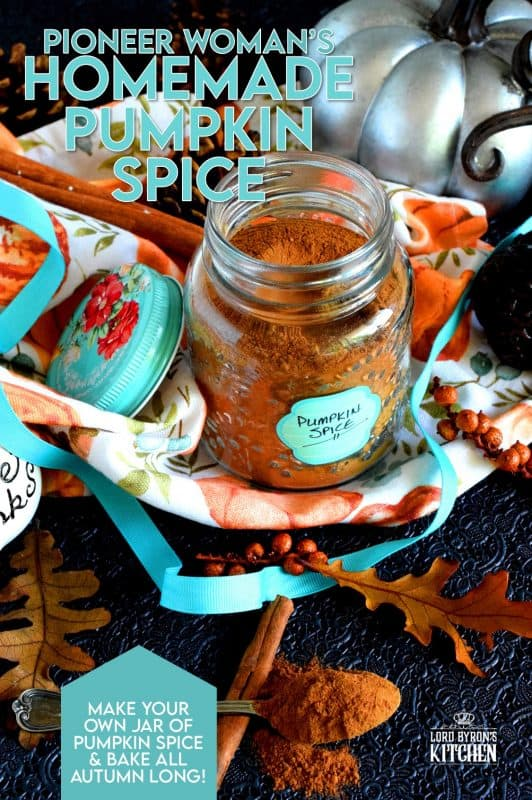 As soon as September comes round, I make an extra large batch of Pumpkin Spice blend. It's the Pioneer Woman's recipe, and I've used it every year since I've found it. It's the perfect blend for all of my fall baking! #pioneerwoman #pumpkinspice #pumpkin #spice #blend #homemade