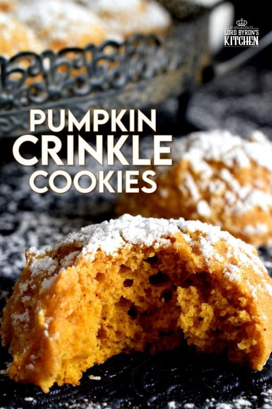 If you're looking for a soft, chewy, moist, pillow-y, pumpkin spiced cookie, then you've come to the right place! Pumpkin Crinkle Cookies are all of those things and more - like, delicious and addicting! #pumpkin #crinkle #cookies #pumpkinspice #spice